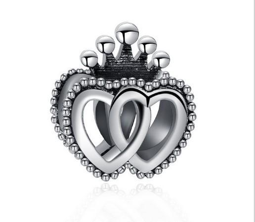 2019 Fits Pandora Bracelets Queen Crown Heart Silver Charm Bead Loose Beads For Wholesale Diy European Sterling Necklace Jewelry Christmas From