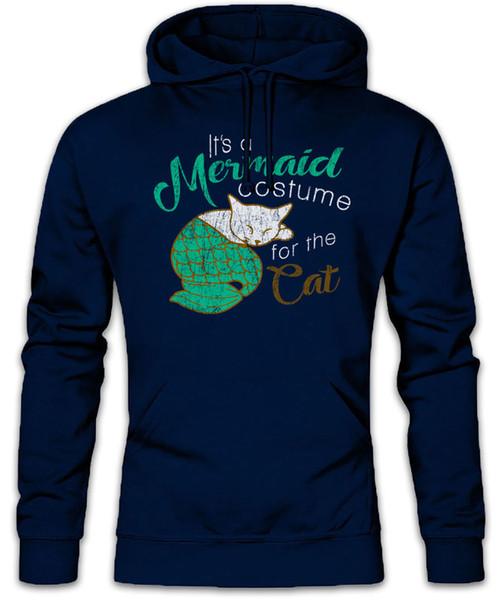 Modern Mermaid Cat Hoodie Sweatshirt Cameron Family Cats Costume for Tucker Fun