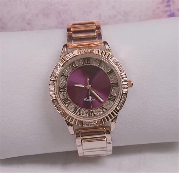 luxury watch diamond Wristwatches fashion brand designer watches for men women Stainless steel chain iced out watch
