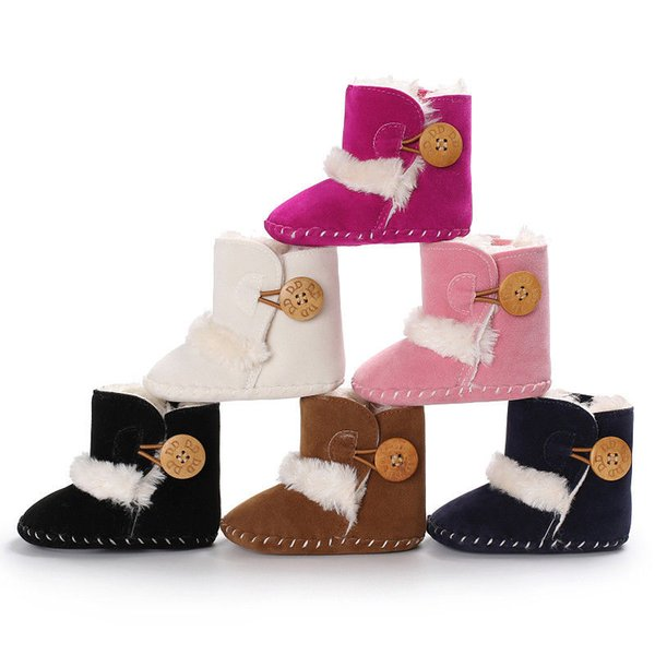 Bébé Filles Garçons Coton Doux Bottes De Neige Hiver Antidérapant Demi-Bottes Chaudes Nouveau-Né Doux Chaussures Bas 0-18 M 6 Couleurs