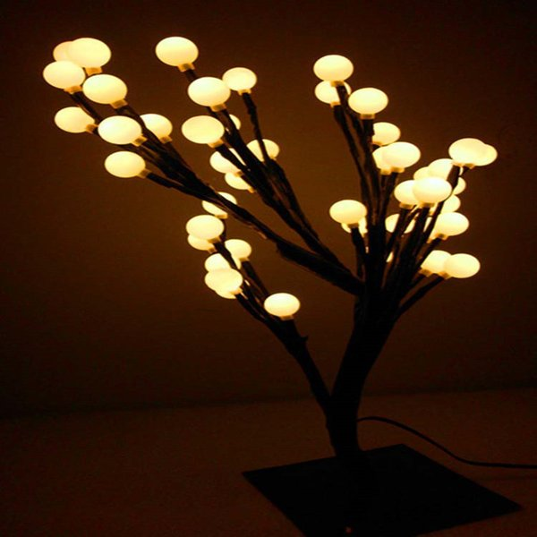 2019 New Led Crystal Christmas Tree Night Lights Lustres Table Lamps Chandelier Indoor Lighting New Year Wedding Luminaria Decoration From Yuancao