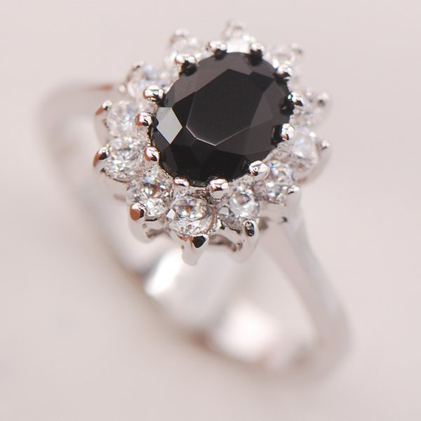 ring name Black Onyx Women 925 Sterling Silver Ring F695 Size 5 6 7 8 9