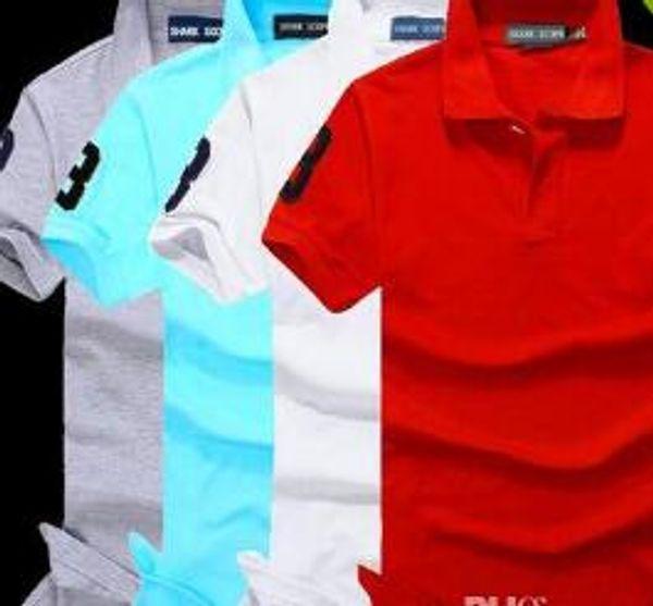 Brand New Men's Small Horse Polo Shirt For Men Desiger Polos Men Cotton Short Sleeve shirt clothes jerseys golftennis Plus