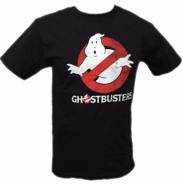 Ghostbusters Disfraz de Halloween Logo vintage Camiseta negra para hombre NUEVA camiseta S-5XL 100% algodón NWT Camiseta sin mangas de verano Hipster