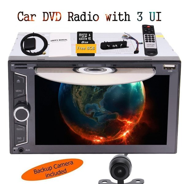 6.2'' Car GPS Navigation Navigator Lifetime Maps Bluetooth car DVD CD Player Radio Receiver Remote Control 8GB Map Card + Rear View Camera