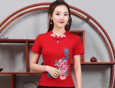 Señoras del verano Camisas T Moda Algodón Delgado Camisetas de Manga Corta Camiseta Casual Enrejado Mujeres Ropa Camisetas Mujer Ropa Más Tamaño