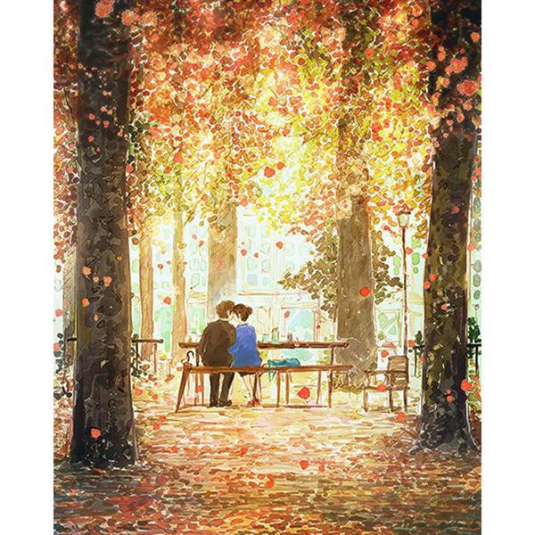The Lovers In The Park 5D Full Drill Diamond Painting Home Decor Diamond Mosaic Cross Stitch Embroidery DIY Handwork (Free Shipping)