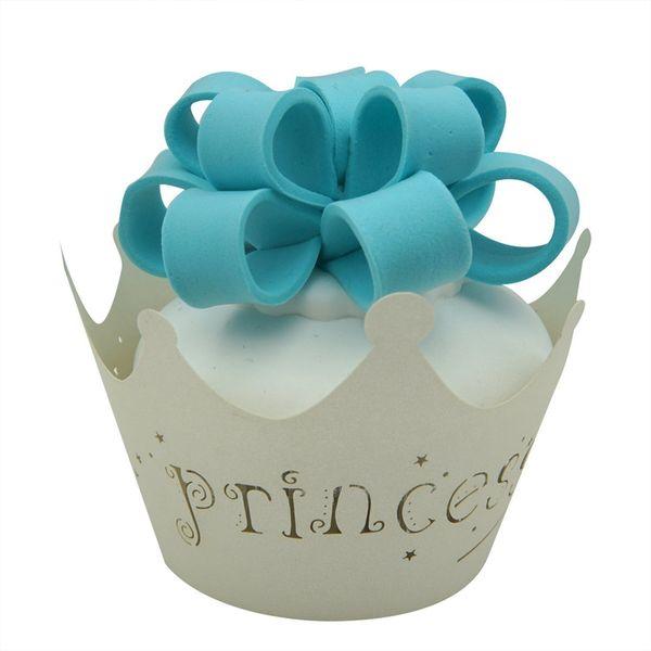 Großhandel 120 stücke Prinzessin Crown Cupcake Wrapper Muffinpapier Wrapper Weihnachten Hochzeit Geburtstag Party Dekoration Lieferungen
