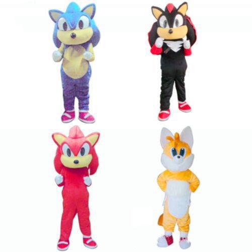 2018 vente chaude Sonic le costume de mascotte hérisson tenue de fête d'anniversaire de fantaisie