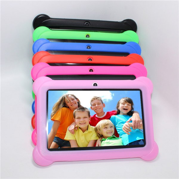 "Gift for Kids Tablet PC 7"" Quad Core children tablet Android 4.4 Allwinner A33 google player wifi 4GB 7colors Gift Silicone Case"