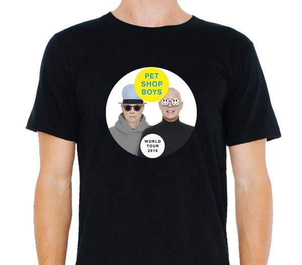 T-shirt Livraison Gratuite Hommes Crew Neck Pet Shop Garçons Tour Du Monde Schedulle Sur Le Dos Grand Cadeau Court Chemises