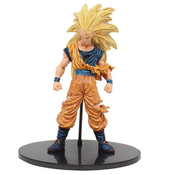 Anime Dragon ball Super Saiyan Three Battle Damaged Edition Son Goku Kakarotto PVC action figure Collectible Model toys