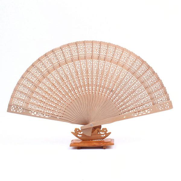 100 pcs ventilador de madeira da fragrância ventilador de casamento estilo Chinês com o noivo da noiva nome data do casamento personalizado Frete grátis