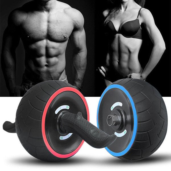 Fitness Abdominal Wheel AB Roller con estera para ejercicios No-noise Muscle Trainer Gym Brazo Pierna Body Slimming Fitness Equipment