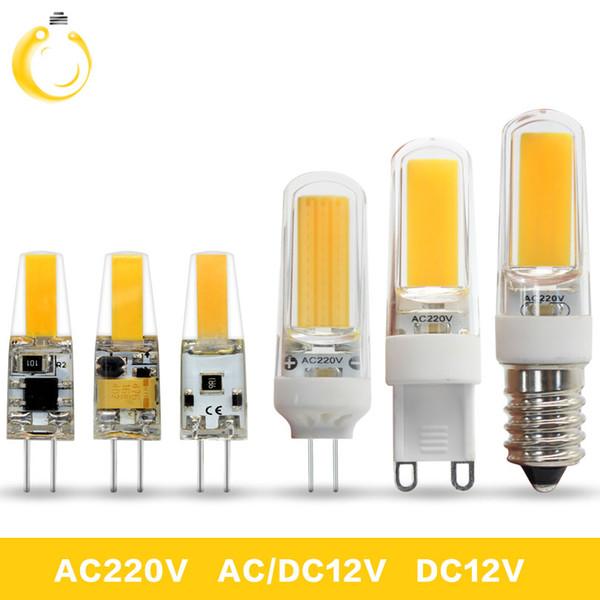 1PCS/Lot G4 G9 E14 Lampada LED Lamp AC 220V DC 12V COB bombillas LED Bulb G9 G4 COB Lights Replace 30W Halogen Spotlight