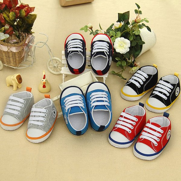 HOT Spring Summer Toddler Baby Girls Boys Soft Crib Shoes Non-slip Sneakers Prewalkers Cloth Shoes