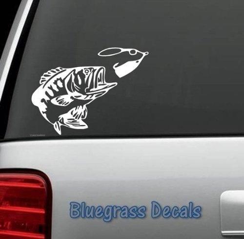 Car Styling for BASS FISHING SPINNER BAIT WINDOW VINYL DECAL STICKER LAPTOP SUV BOAT TRAILER BIN