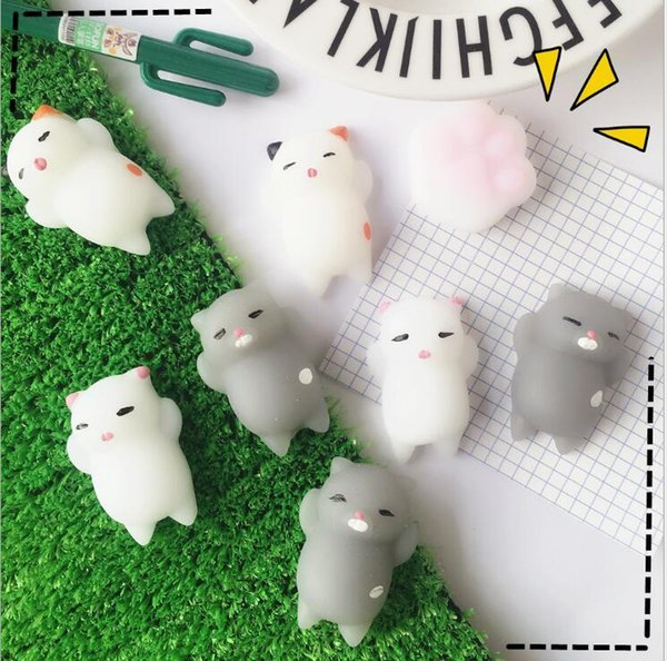 Hot Sale Jumbo Squishy Pink White Cat Kawaii Cute Animal Slow Rising Sweet Scented Vent Charms Bread Cake Kid Toy Doll Gift Free Shipping