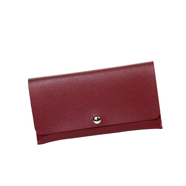 Lichee Pattern Women Wallets Red Coin Cell Phone Pocket Ladies Clasp Clutch Purses Female Wallet Carteras High Quality
