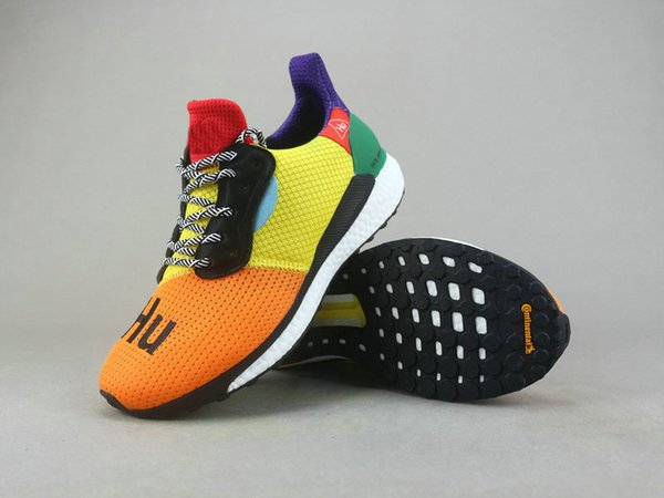 new arrival 310d2 707d9 Con Box Human Race Pharrell x Solar Hu Glide ST Zapatillas de running pharrell  williams Hu trail Cream Core Zapatillas Black Equality Zapatillas deportivas