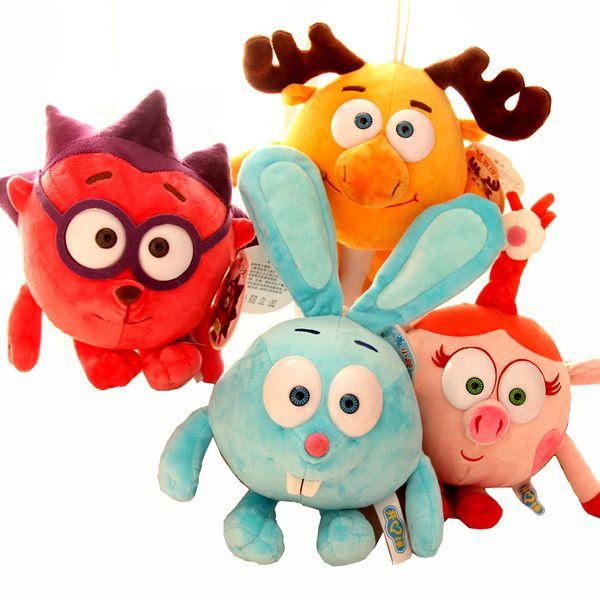 30cm Anime Smeshariki Small Pet Plush Toys Soft Doll Russian Cartoon Animals Happy language Football Dolls Stuffed For Kids Gift