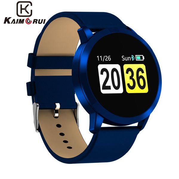 Q8 умный браслет цветной экран смарт-часы IP67 водонепроницаемый фитнес монитор сердечного ритма шагомер браслет