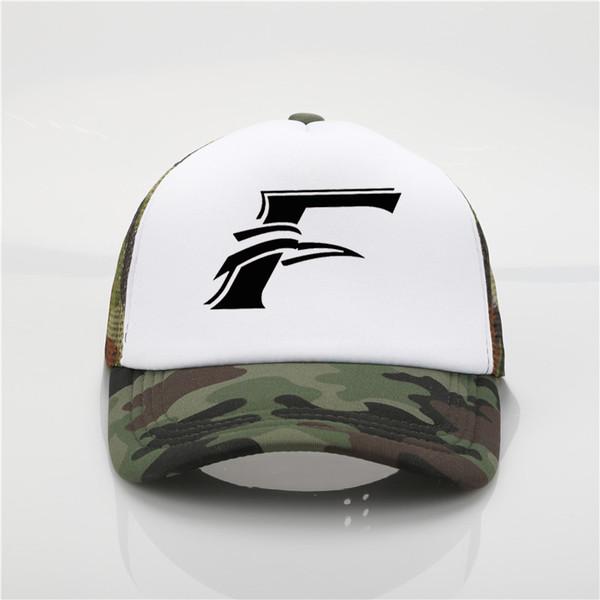 Personalidade letra F impressão de malha cap moda homens e mulheres boné de beisebol ao ar livre chapéu de sol verão chapéu de sol