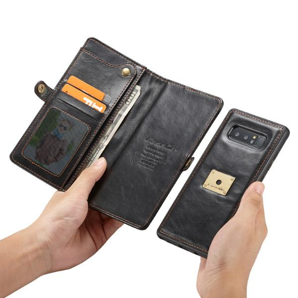 CaseMe Case For Samsung Galaxy Note 9 / Note 8 with Wrist Strap Wireless Charging Flip Wallet Magnetic 2 in 1 Purse Phone Detachable Case