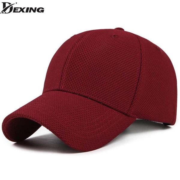 Spandex Elastic Fitted Baseball Cap men Casual Snapback Caps Women Trucker Casquette Dad Hat red color baseball cap vintage