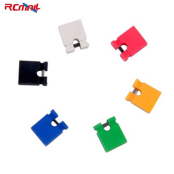 100PCS each color 2.54mm Pitch Cap Jumper Short-Connect Mini Micro Header Circuit Shunts red green black blue yellow white FZ253