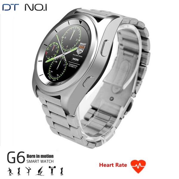 Nuovi Smartwatch sportivi DTNO.1 G6 Smartwatches MT2502 4.0 Monitoraggio della frequenza cardiaca Sleep Track Controllo remoto Android IOS