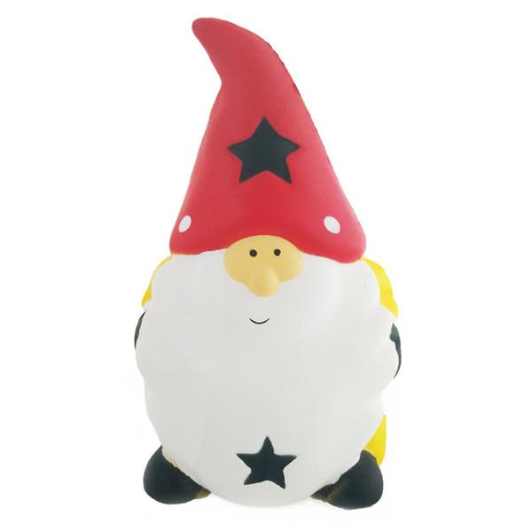 15CM Kawaii Squishy Jumbo Xmas Santa Claus 6'' Slow Rising Antistress Squeeze Toys Phone Charm Slow Rising Christmas Decompression Squishies