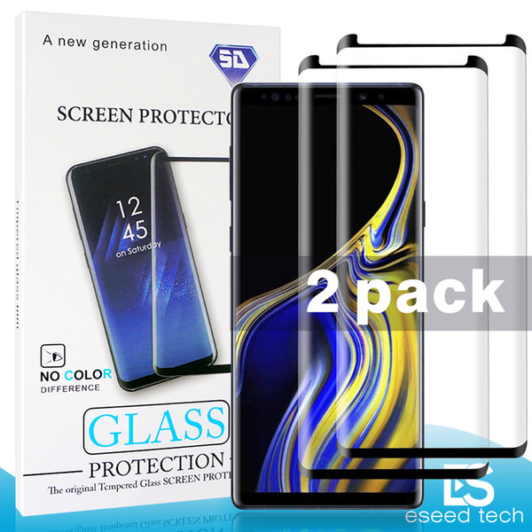 2 Pack Case Friendly Small version For Samsung Galaxy Note 9 8 S9 S8 Plus S7 S6 Edge Tempered Glass 3D Curve Edge HD Clear Screen Protector