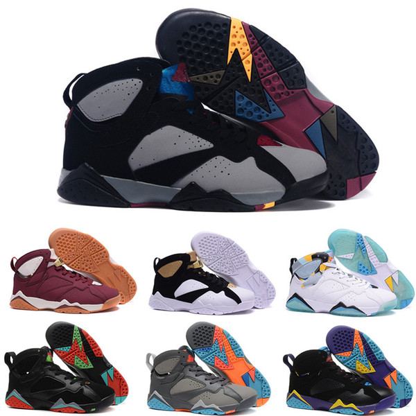 High Quality 7 7s Bordeaux Hare Olympic Tinker Alternate Men Basketball Shoes 7s Sweater UNC French Blue GMP Raptor Sneaker With Box