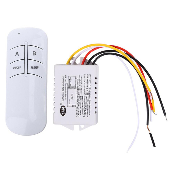 Wireless ON / OFF 1 Wege 220 V Lampe Fernsteuerungsschalter Empfänger Sender-Y122 für Abluftventilator / LED-Licht