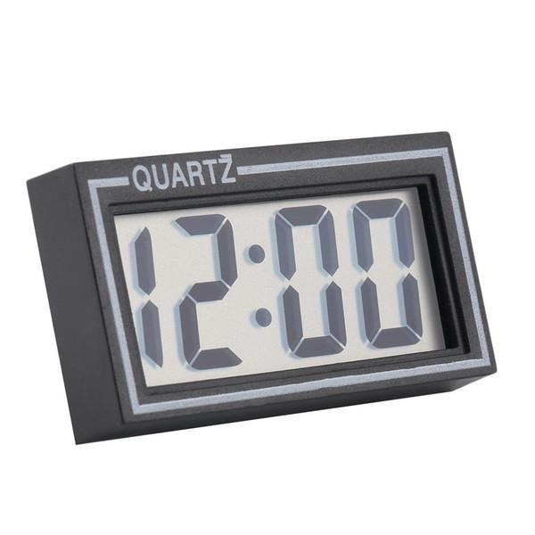 Desk Date Time Calendar Small Clock Healthy Digital Analog Home Decor Clocks Digital LCD Table Auto Car Dashboard Adjustable