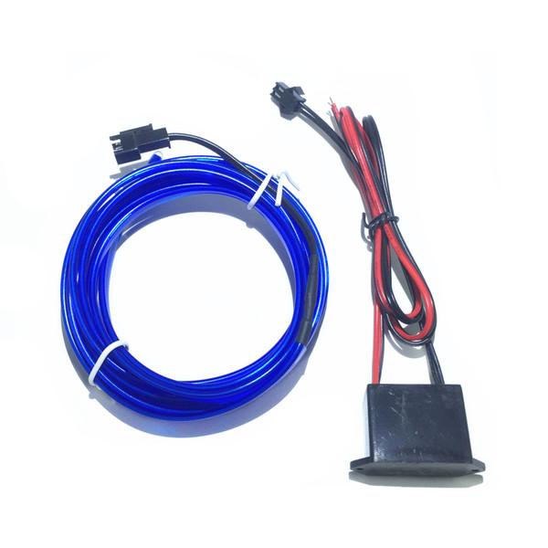 Haoyuehao Automotive Led lámpara decorativa de neón 12V interior automotriz Led flexible EL tablero de indicador de cable frío 5M