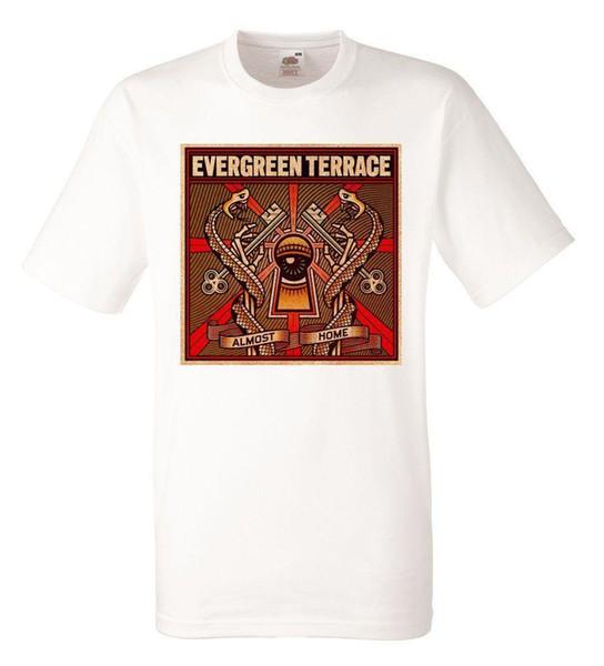 Evergreen Terraço Quase Casa Branca Herren T-shirt Dos Homens de Rock Band Tee Shirt