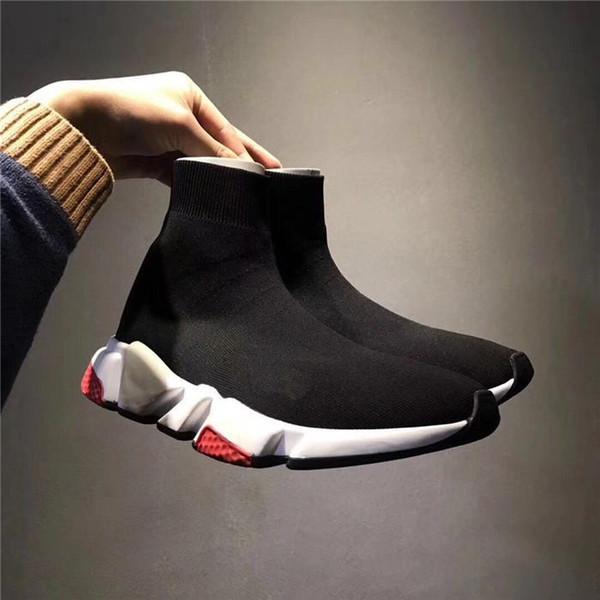 Vitesse formateur Noir Rouge gypsophile Triple Noir Styliste Sneakers Flat Chaussette Bottes Chaussures Casual Speed Runner Avec Entraîneur en boîte