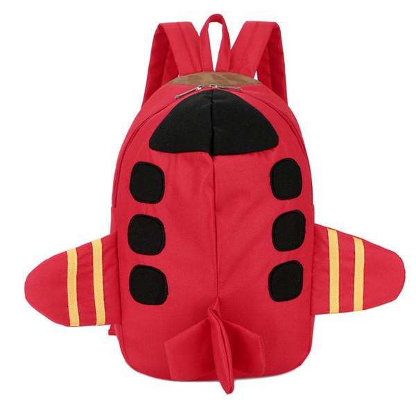 New Mini Aircraft Kids Backpack For Boys Girls Cartoon Kindergarten Schoolbag Cute Children School Bag Backpack