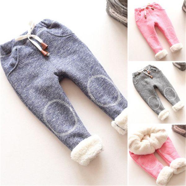 Autumn Baby Girls Winter Leggings Children Plus Thick Velvet Pants Spring Casual Kids Warm Girl Christmas Trousers