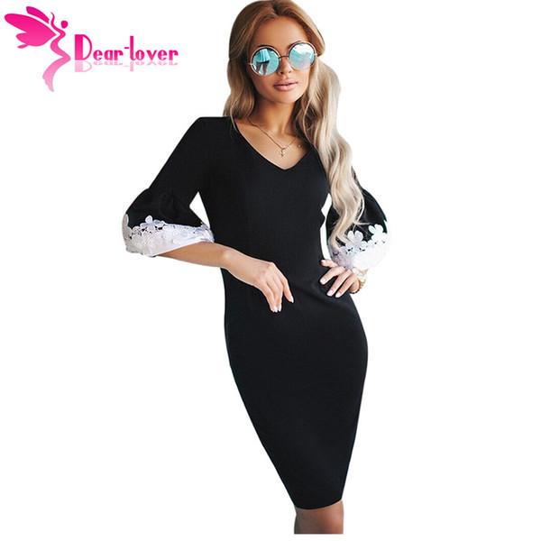 Vestidos Estimado Compre Mujeres Bodycon Amante Negros Primavera wOPuTlkZiX