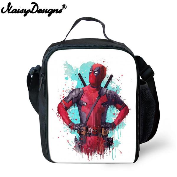 Sacchetto del pranzo dei bambini 3D Famoso cartone animato Deadpool Comics Superheros Portable Lunchbox termico Cooler Borse isolate Borsa da picnic