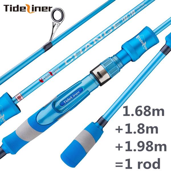ajustable 1.68 m 1.8 m 1.98 m UL spinning caña de pescar telescópica ultraligero spinner calidad fibra de carbono caña de pescar polo