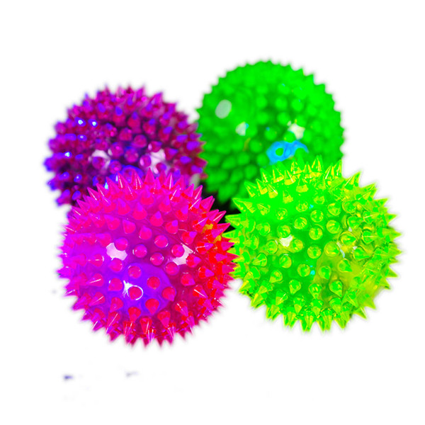 Hot Sale Soft Rubber Interactive Pet Dog Ball Toys With Flashlight Ball Fetch Elastic Dog Toy Balls