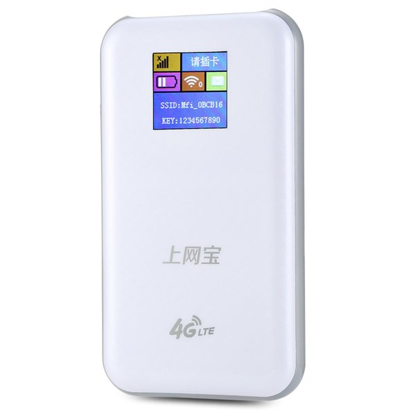 K2 4G Mobile WiFi Wireless Router Data Terminal High-speed Hotspot Portable Power Bank With the built-in 6800mAh Li-ion battery