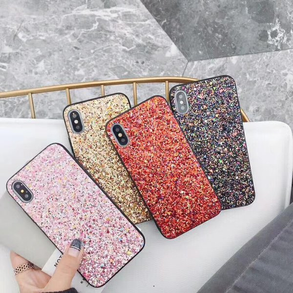 New Fashion Flash Phone Case for iPhone X Fashion Shockproof Hard TPU Back Cover for iPhone 6 7 8 plus