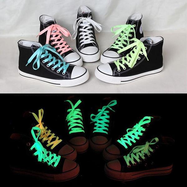 2 pcs 60cm sport luminous shoelace glow in the dark color fluorescent shoelace Athletic Sport flat shoe laces Worldwide sale