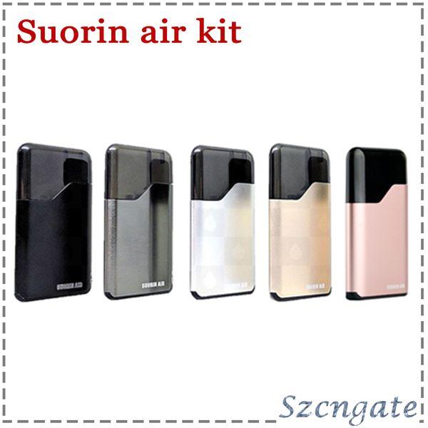 Kits de inicio de aire Suorin 100% auténticos Kits de E-cigarrillo electrónico de batería de 16W 400mah y cartucho de 2 ml Cigarrillos electrónicos DHL