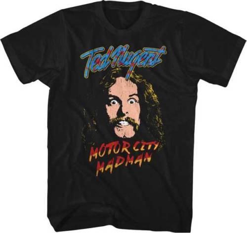 TED NUGENT Motor City Madman T SHIRT Brand New Official Mens 2018 fashion Brand T Shirt O-Neck 100%cotton T-Shirt Tops Tee custom
